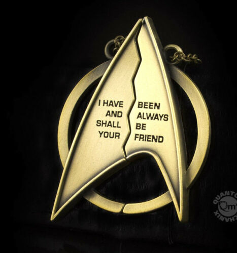 "Star Trek Friendship Necklace 2.5"" Tall w 2 Chains In QMX Box Mailed from USA"