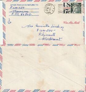 US-1973-COMMERCIAL-FLIGHT-FLOWN-COVER-MAYAGUEZ-PR-TO-PLYMOUTH-MONSERRAT