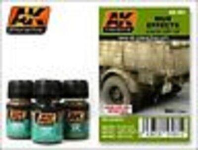 AK00061 AK Interactive - Mud Set pigment terrain and vehicle weathering set