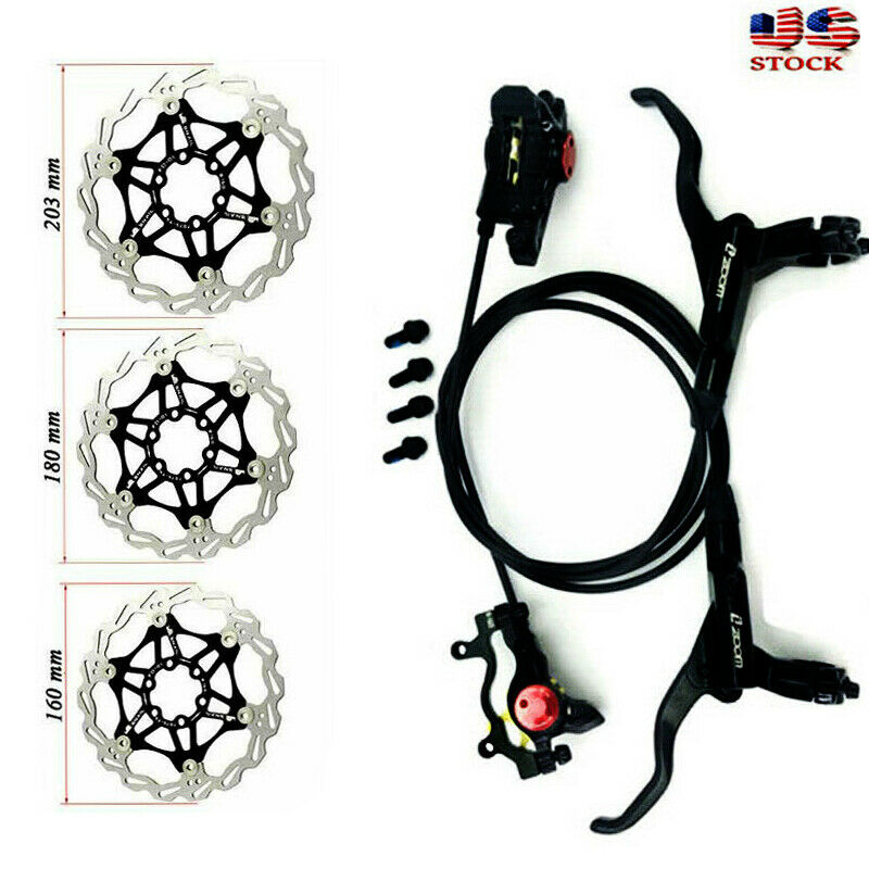 MTN Hydraulic Disc Brake Set Optional 160180203mm rossoors with 2pc PMAdapter