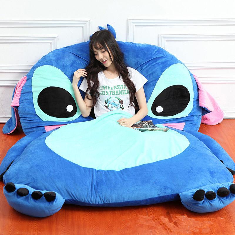 2018 Giant Lilo & Stitch PLUSH tatami Lit Simple factices Cartoon Big Sac de couchage