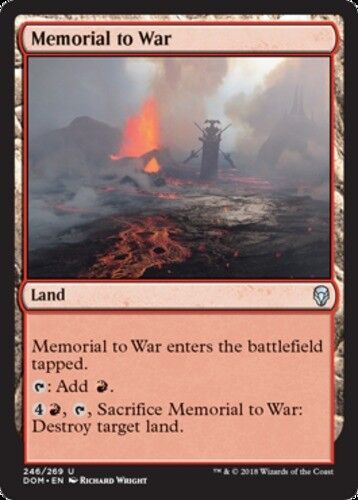 4x Memorial to War MTG Dominaria NM Magic Regular