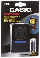 Casio Pq15-1k Travel Alarm Clock With Thermometer , New, Free Shipping