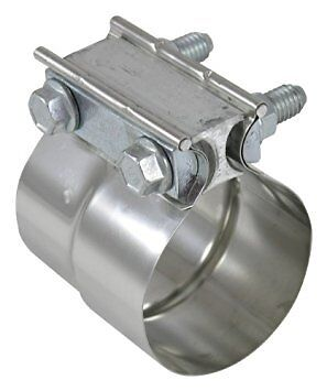 """3/"""" inch STAINLESS STEEL preformed band exhaust clamp PETERBILT GM FORD MACK HINO"""