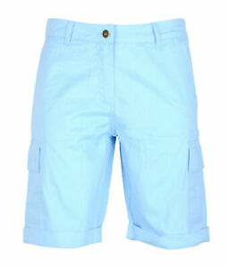 Womens Polyester Combat Canvas Chino Cargo Shorts Knee Length Summer Comfortable
