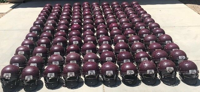 Used Adult Schutt Football Helmets - Maroon