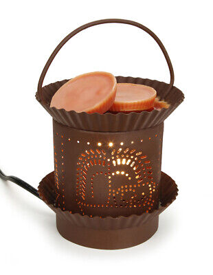 Met Goed Opvoeding Darice Candle Lamp Candle Warmer Electric Rusty Tin