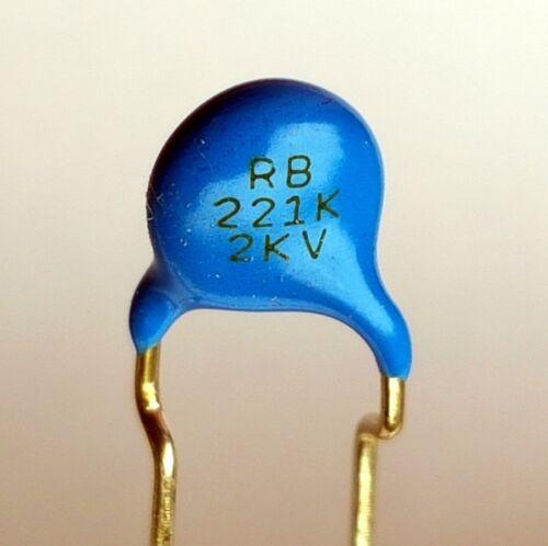 220pF 2KV high voltage ceramic capacitor –ref:747 4x pieces 221K