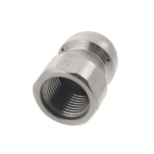 """Erie Tools Button Nose 3//8/"""" Sewer Jetter Drain Cleaning Nozzle 8.0 Orifice Size"""
