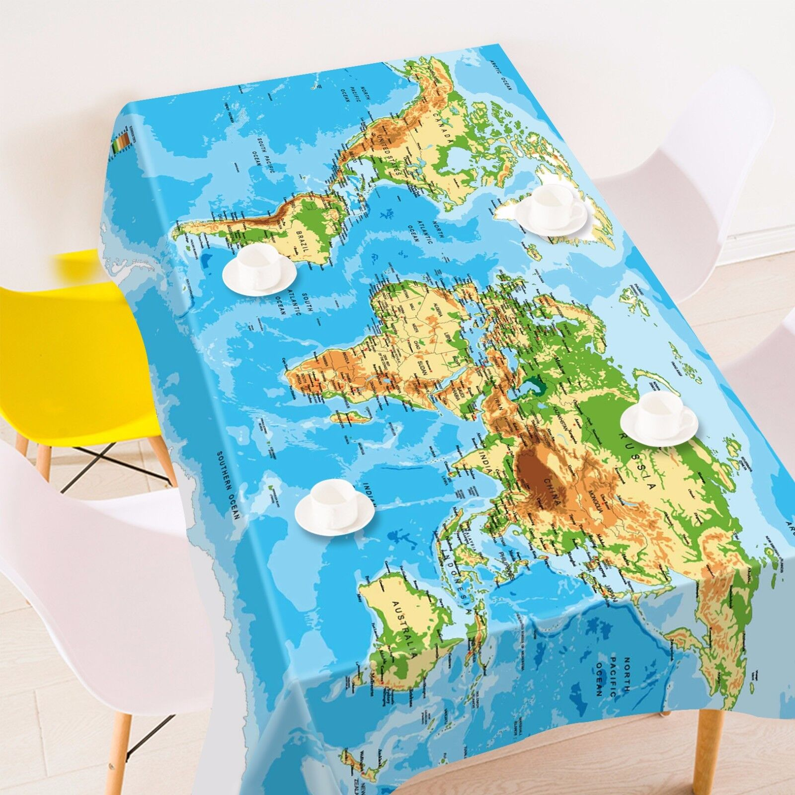 3D Sea carte 89 Tablecloth Table Cover Cloth Birthday Party Event AJ WALLPAPER AU