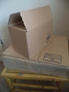 """20 Quality Brown Single Wall Packaging Postal Boxes 9"""" x 6"""" x 6"""" - NEW!"""