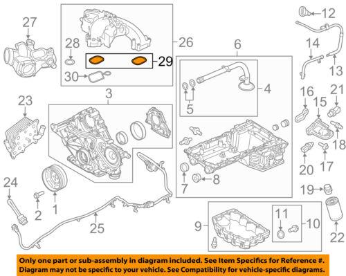 FORD OEM 11-18 F-350 Super Duty-Engine Intake Manifold Gasket BC3Z9439C