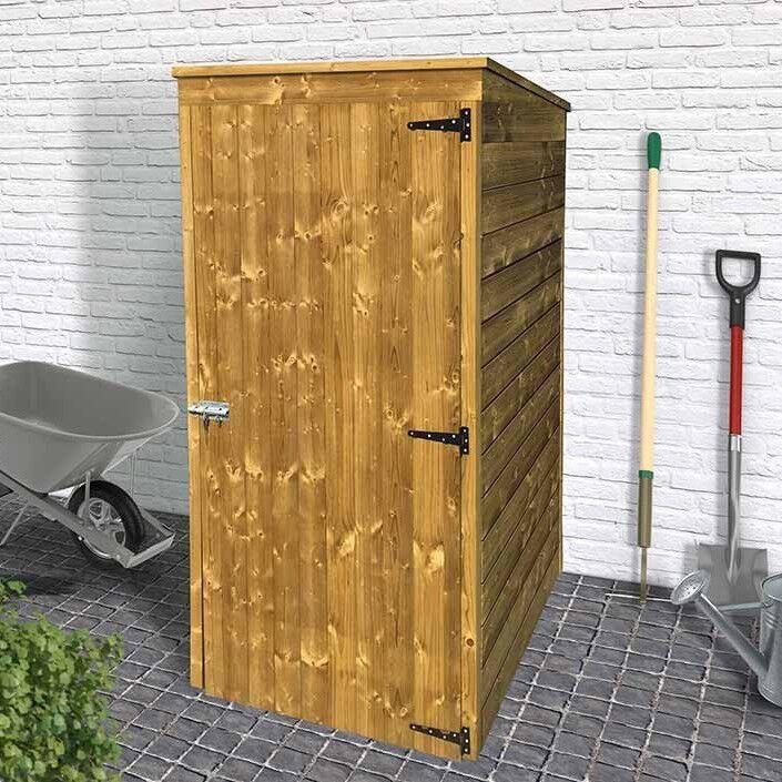 Armadio- ripostiglio Porta Attrezzi in legno trattato per esterno 96 x 90 x 179