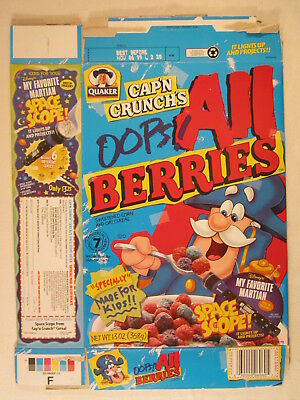 Empty Cereal Box Cap N Crunch 1999 Oops All Berries My Favorite Martian G7d4m Ebay You can vote for oops! empty cereal box cap n crunch 1999 oops all berries my favorite martian g7d4m ebay