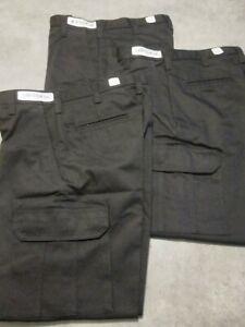 Para Hombres Pantalones De Trabajo De Carga De Cintas 30x30 Negro Frente Plano Lote De 3 Nuevo Ebay