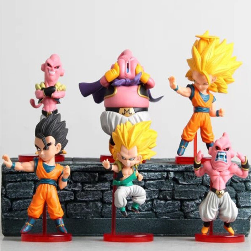 6pcs Dragonball Z Dragon Ball Z DBZ Mini Figure Toy Set Anime Goku Buu Boo