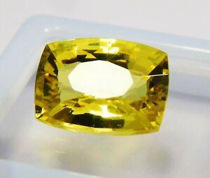 Natural-CERTIFIED-Cushion-Cut-8-Ct-Yellow-Ceylon-Sapphire-Loose-Gemstone