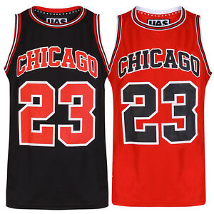 Mens Chicago Basketball Jersey Gym Vest Sports Top UrbanAllStars ... bfe95250a5d8