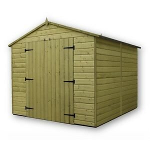 Garden Sheds 8x8 garden shed 8x8 shiplap apex tanalised pressure treated with