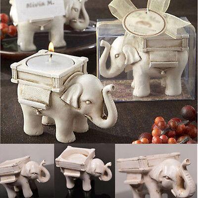 Lucky Elephant Tealight Candle Holder Ivory Bridal Wedding Party Home Decor