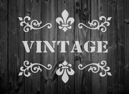 44 Plantilla Shabby Chic Francés Arte Vintage Artesanía A6//A5//A4//A3 Mylar 125//190um