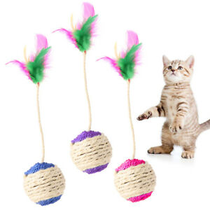 Pet-Toy-Cat-Kitten-Rolling-Scratching-Ball-Tumbler-Interactive-Doll-With-Feather