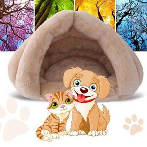 Cat-Dog-House-Puppy-Cave-Pet-Sleeping-Bed-Mat-Pad-Cushion-Igloo-Nest-Warm-Bed