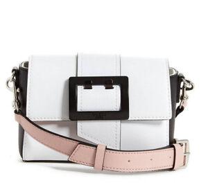 De Detalles Con Etiqueta Nuevo Mini Solapa Bolso Blanco Tori Cruzado Cartera Mano Guess vm0w8ONn