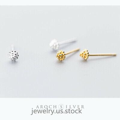 Women 925 Sterling Silver Small Cute Leaf Grass Stud Earrings Find Jewelry