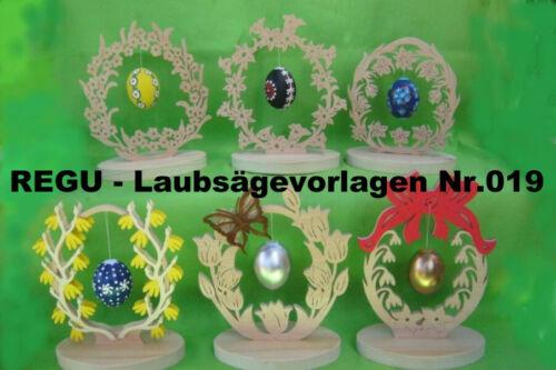 REGU - Laubsägevorlagen Nr.019 sechs x OSTERSCHMUCK  einfache Bastelvorlage