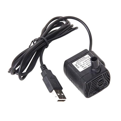 Brushless DC 3.5~9V Mikro Tauch Wasserpumpe Unterwasser Aquarium USB-Stecker Neu