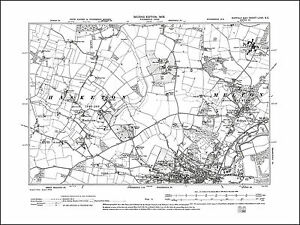 Woodbridge N Melton Hasketon old map Suffolk 1905 67SE repro eBay