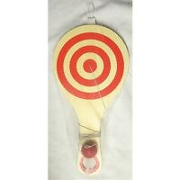 Wooden Paddle Ball Game 11 Inches Long And 5 1/2 Wide. 02620