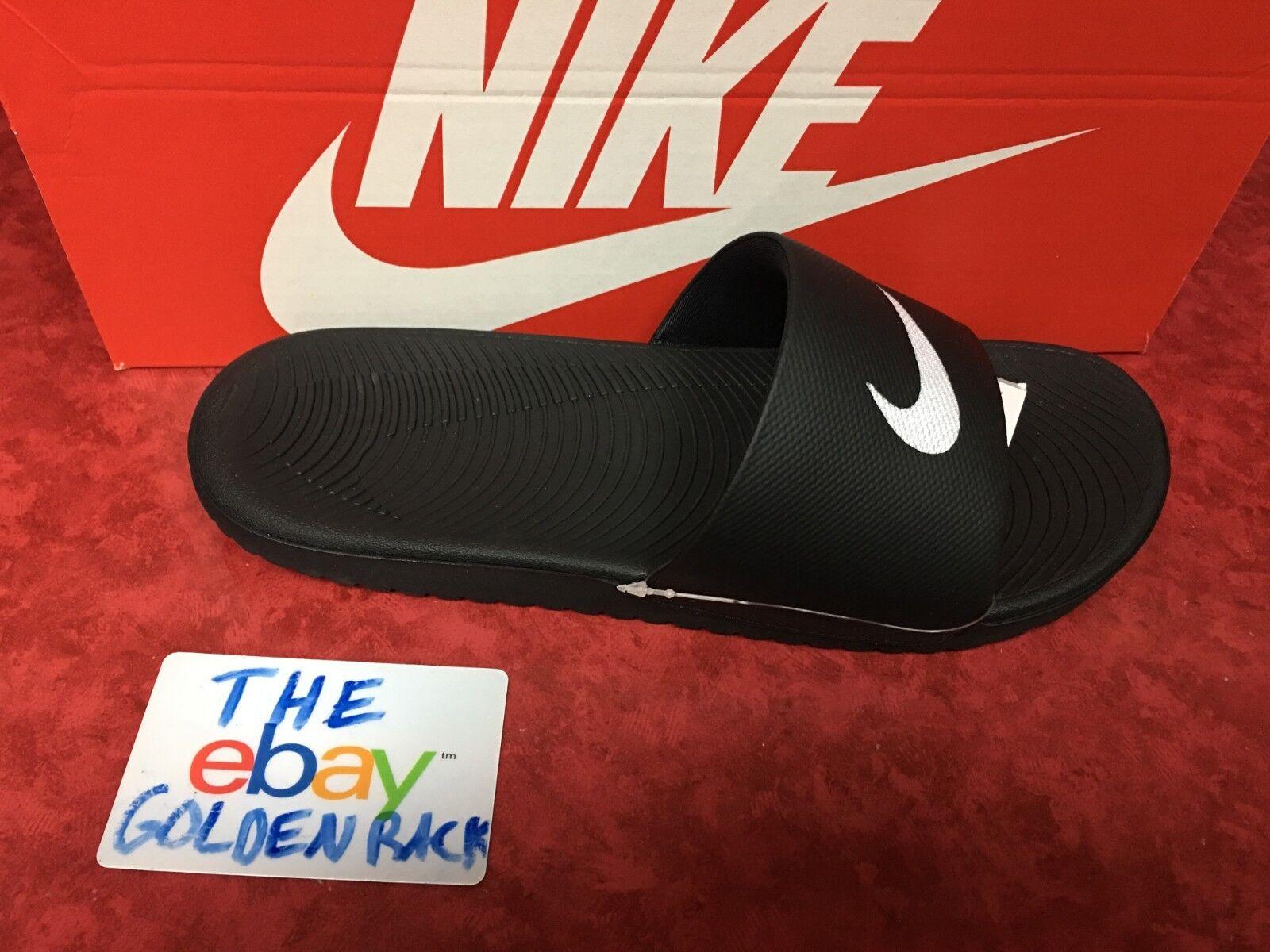 Men's Nike Kawa Slide Sandal Black/White 832646 010 SZ 9-13