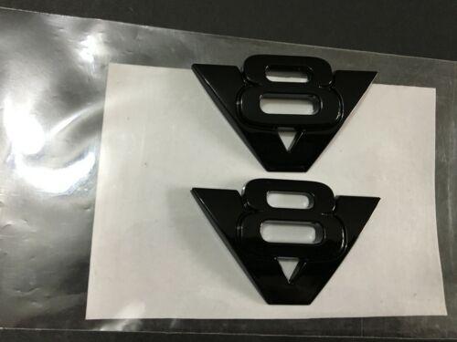 2007 2008 2009 2010 GLOSS BLACK EXPLORER /& SPORT TRAC V8 EMBLEM BADGE 2PCS