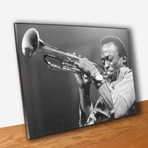 Poster Musica Jazz Miles Davis Stampa su Tavola mdf Quadro Pannello in Legno