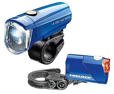 Trelock LS 350 I-GO SPORT / LS 710 REEGO blau Beleuchtungsset Fahrradbeleuchtung