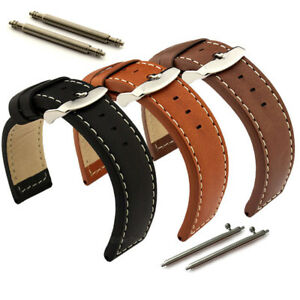 Genuine Leather Watch Strap Band Quick Release Spring Bars 18 20 22 24 HAVANA MM