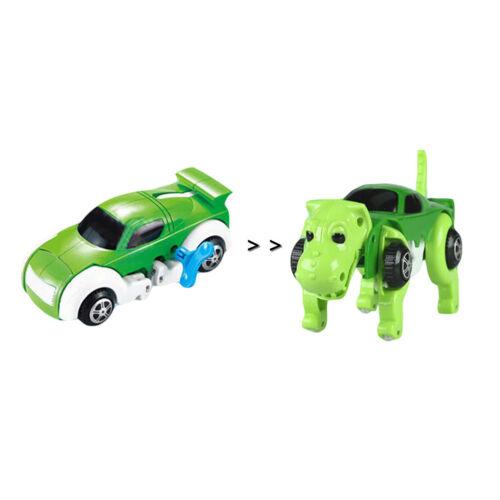 Transformação Automático Cão//Dinossauro carro veículo Clockwork Brinquedo De Corda Para Crianças Presente