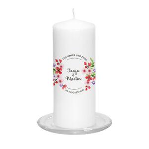 Hochzeitskerze-Country-inkl-Personalisierung-Hochzeit-Traukerze-Blume-Vintage