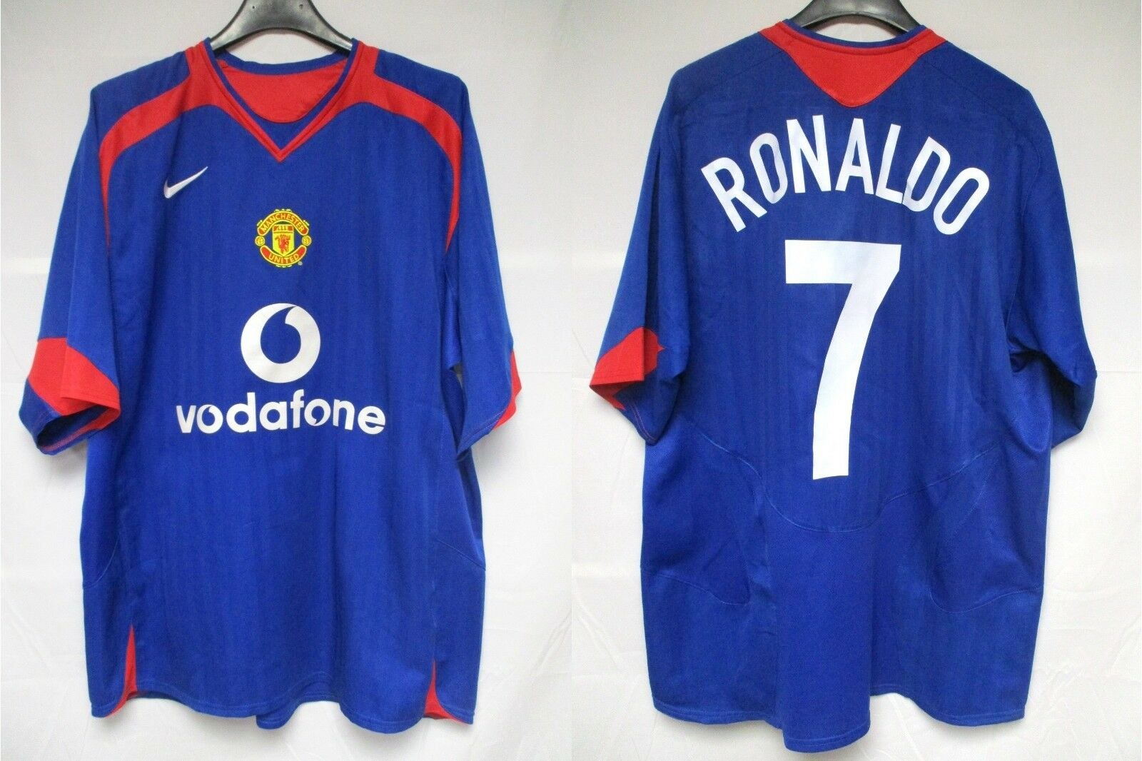 Maillot MANCHESTER UNITED NIKE 2006 RONALDO n°7 vintage  shirt Champions League L  se descuenta