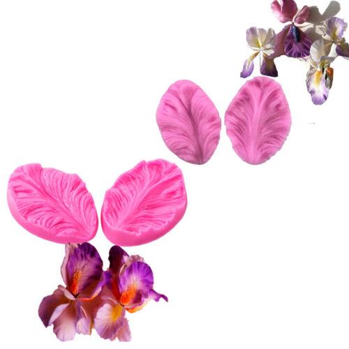 2x moule en silicone 3D fleur cuisson décoration de mariage de sucre artisanat*t