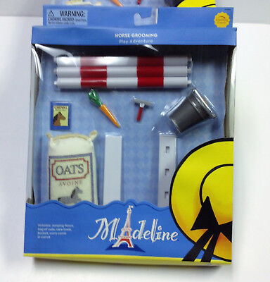 """Madeline 8/"""" Doll HORSE GROOMING SET by Learning Curve 84306 NIB"""