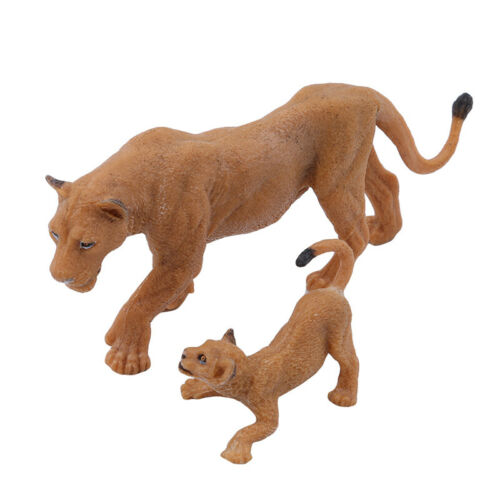Simulation Lion Resin Mini Animals Animals Model Kids Toys Gifts New LH