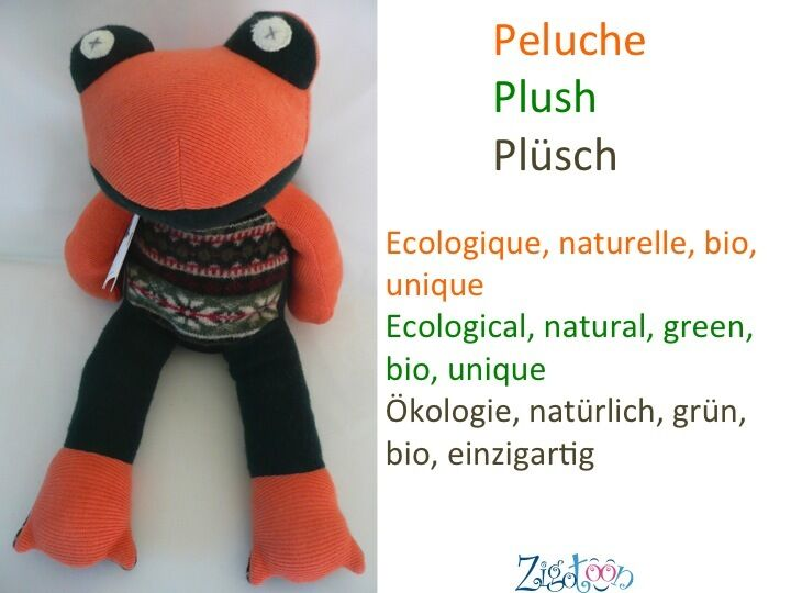 BIO natural plush Wool animal Grün Baby soft toy Frog, Baby Grün birth gift Cate and Levy 566d60