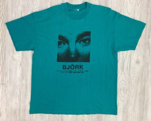 Vintage Bjork Japanese Tour Promo T-Shirt Size XL