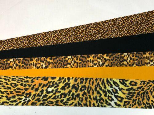 "10 2.5/"" Pre Cut Jelly Roll Quilt Quilting Strips 100/% Cotton Cheetah Orange"