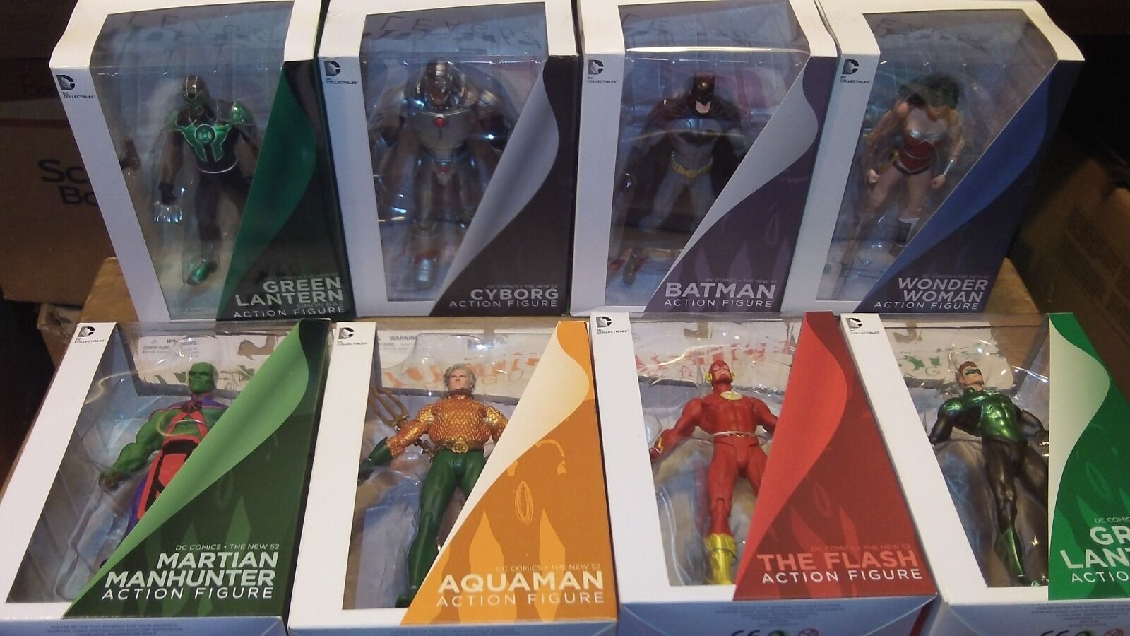 DC Comics Justic League The New 52 Batman Wonder Grün Cyborg lot NEW
