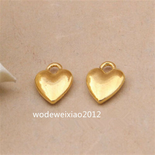 20pc Tibetan Gold Charms Love the heart Pendant Beads Jewellery Wholesale PL1070