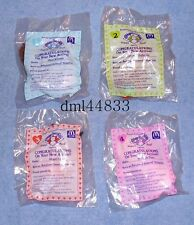 1994 McDonalds Cabbage Patch Kids MIP Complete Set - Lot of 4, Girls, 3+